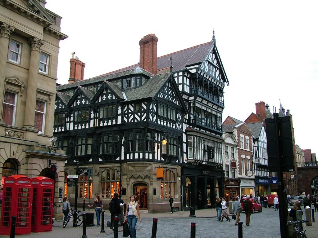 Chester stad. Een van de meer aangename steden van Engeland.
