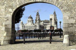 Liverpool stad de drie gratieën